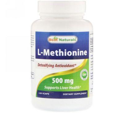 Best Naturals, L-Methionine, 500 mg, 120 VCAPS