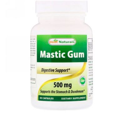 Best Naturals, Мастиковая смола, 500 мг, 60 капсул