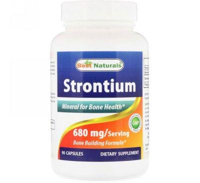 Best Naturals, Strontium, 680 mg, 90 Capsules