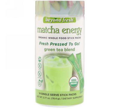 Beyond Fresh, Энергия маття, смесь зеленого чая, 14 одноразовых пакетиков