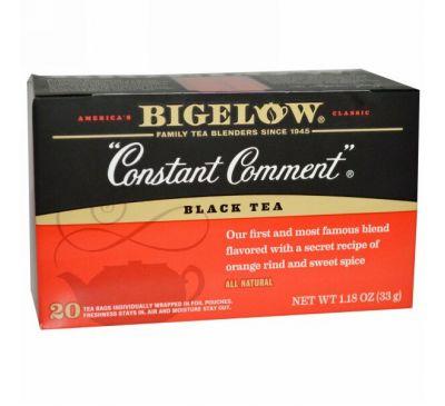 Bigelow, Constant Comment, черный чай, 20 чайных пакетиков, 1,18 унции (33 г)