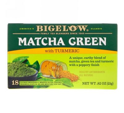 Bigelow, Matcha Green Tea with Turmeric, .82 oz (23 g)