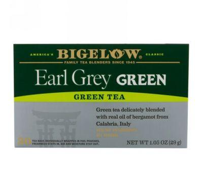 Bigelow, Зеленый чай Early Grey, 20 чайных пакетиков, 1,05 унц. (29 г)
