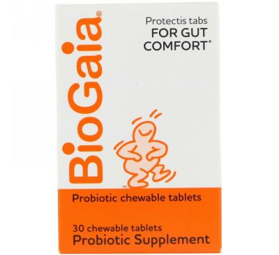 BioGaia, Probiotic Supplement, Lemon Flavored, 30 Chewable Tablets
