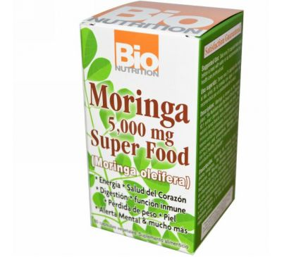 Bio Nutrition, Суперпродукт Моринга, 5000 мг, 60 растительных капсул