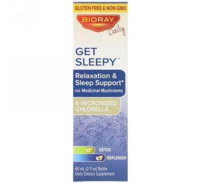 Bioray Inc., Get Sleepy, Помощь расслаблению и сну, 2 ж. унц.(60 мл)