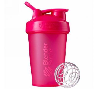 Blender Bottle, BlenderBottle, классическая с петелькой, розовая, 20 унций