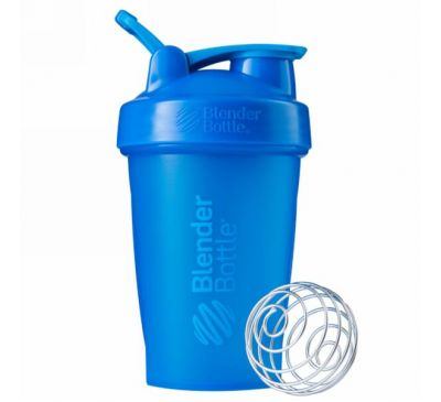 Blender Bottle, BlenderBottle, классическая с петелькой, зелено-голубая, 20 унций (600 мл)