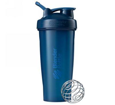 Blender Bottle, Блендерная бутылка, классическая с петлей, темно-синяя, 28 унций