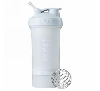 Blender Bottle, Бутылка-блендер BlenderBottle, ProStak, белая, 22 унции