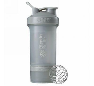 Blender Bottle, Бутылка для смешивания, ProStak, галечно-серый, 22 унц.