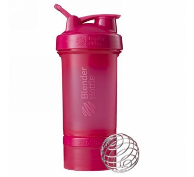 Blender Bottle, Взбиватель BlenderBottle, ProStak, розовый, 660 мл