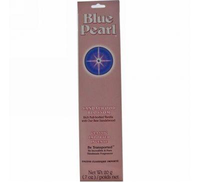 Blue Pearl, Классические благовония, Цветы сандалового дерева, 0.7 унций (20г)