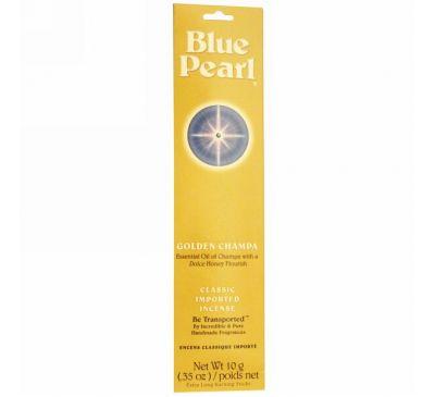 Blue Pearl, Классические благовония, Золотая Чампа, 0.35 унций (10г)