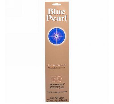 Blue Pearl, Сандаловые палочки, классическое импортное благовоние,.20 г