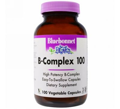 Bluebonnet Nutrition, B-комплекс 100, 100 растительных капсул