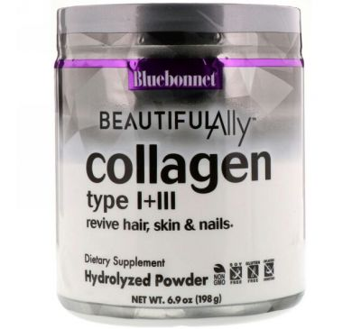 Bluebonnet Nutrition, Beautiful Ally, Collagen Type I + III, 6.9 oz ( 198 g)