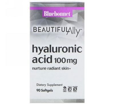 Bluebonnet Nutrition, Beautiful Ally, Hyaluronic Acid, 100 mg , 90 Softgels