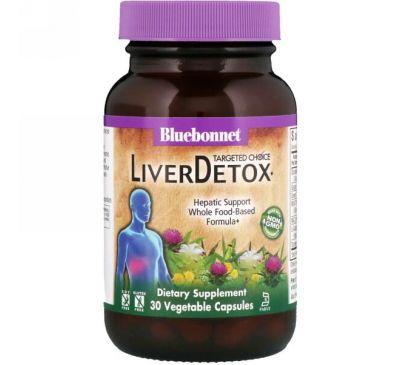 Bluebonnet Nutrition, Целенаправленный выбор, детоксикация печени, 30 вегетарианских капсул