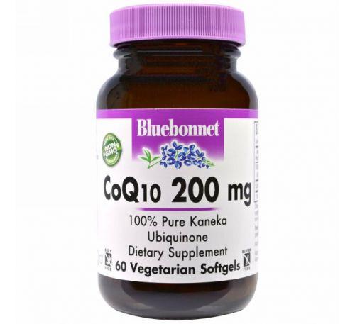 Bluebonnet Nutrition, CoQ10, 200 мг, 60 желатиновых капсул