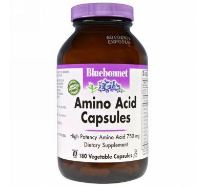 Bluebonnet Nutrition, Капсулы с аминокислотами, 180 капсул в растительной оболочке