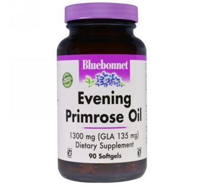 Bluebonnet Nutrition, Масло примулы вечерней, 1300 мг, 90 желатиновых капсул