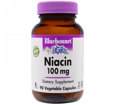 Bluebonnet Nutrition, Niacin, 100 mg, 90 Vcaps