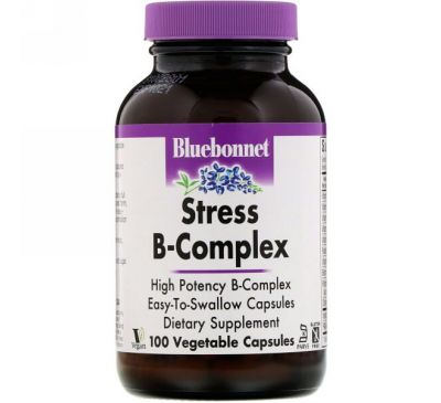 Bluebonnet Nutrition, Stress B-Complex, 100 Vegetable Capsules
