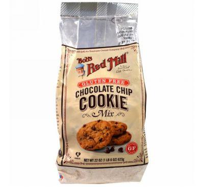 Bob's Red Mill, Ассорти печенья с шоколадной крошкой и без глютена, 22 унц. (623 г)