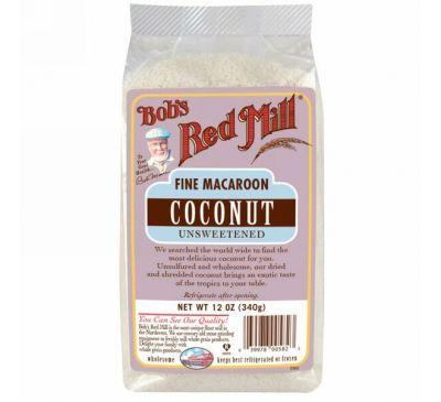 Bob's Red Mill, Измельчённая кокосовая стружка для кулинарии и печенья без сахара, 12 унций (340 г)
