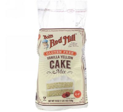 Bob's Red Mill, Vanilla Yellow Cake Mix, Gluten Free, 19 oz (539 g)