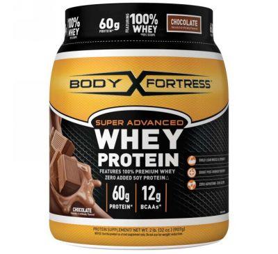 Body Fortress, Улучшенная формула сывороточного протеина со вкусом шоколада, 32 унции (907 г)