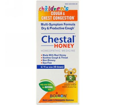 Boiron, Chestal Honey, Children's Cough & Chest Congestion, 6.7 fl oz