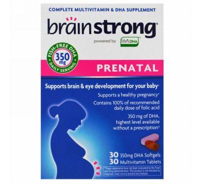 BrainStrong, Предродовой комплекс, 30 желатиновых капсул, 30 таблеток