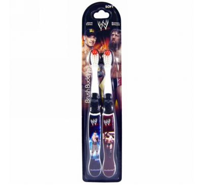 Brush Buddies, WWE, Kids Toothbrush Pack, 2 Toothbrushes