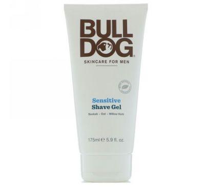 Bulldog Skincare For Men, Гель для бритья для чувствительной кожи, 5,9 ж. унц. (175 мл)