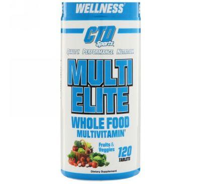 CTD Sports, Мультивитамины Multi Elite, 120 таблеток