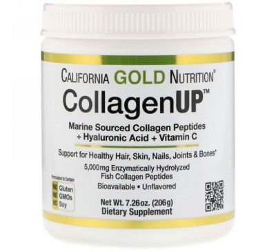 California Gold Nutrition, CollagenUP, без ароматизаторов, 7,26 унц. (206 г)