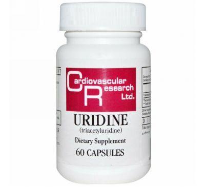 Cardiovascular Research Ltd., Уридин, 60 капсул