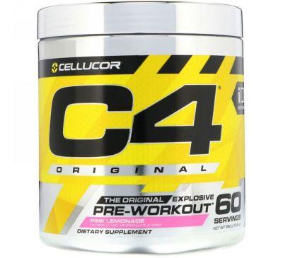 Cellucor, C4 Original Explosive, до тренировки, розовый лимонад, 13,8 унц. (390 г)