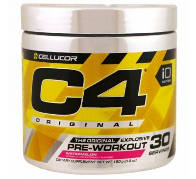 Cellucor, C4 Original для взрывной тренировки, перед тренировкой, арбуз, 6,3 унции (180 г)