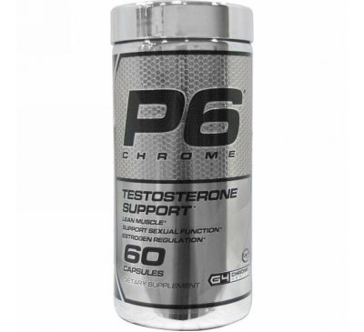 Cellucor, P6 Chrome, Testosterone Support, 60 Capsules
