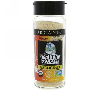 Celtic Sea Salt, Organic, Artisan, Garlic Salt, 2.4 oz (68 g)