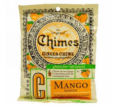 Chimes, Ginger Chews, Mango, 5 oz.