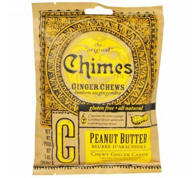 Chimes, Имбирные жевательные конфеты, арахисовое масло, 5 oz (141,8 г)