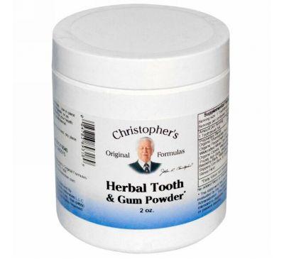 Christopher's Original Formulas, Травяной порошок для зубов и десен 2 унций