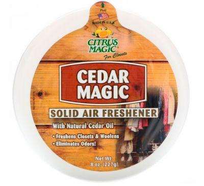 Citrus Magic, Cedar Magic, твердый освежитель воздуха, 8 унц. (227 г)