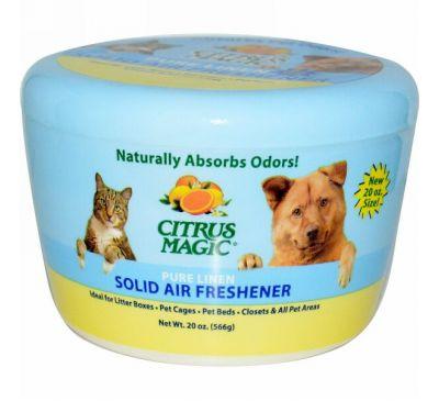Citrus Magic, Твердый освежитель воздуха, запах чистого белья, 20 унций (566 г)