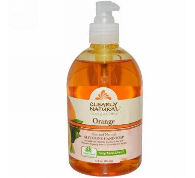 Clearly Natural, Чистая натуральная основа, глицериновое мыло для рук, апельсин, 354 мл (12 жидких унций)