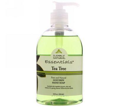 Clearly Natural, Глицериновое мыло для рук, чайное дерево, 354 мл (12 жидких унций)